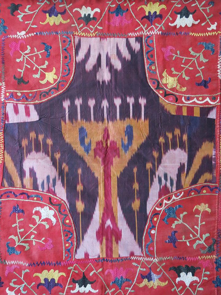 TAJIKISTAN LAKAI tribal silk embroidery Mirror cover