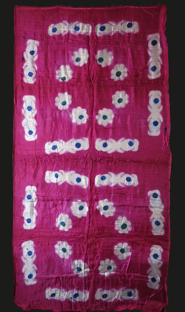AZERBAIJAN BAKU Hand loomed tie-dyed silk scarf