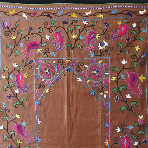 UZBEKISTAN silk embroidery antique NIM SUZANI