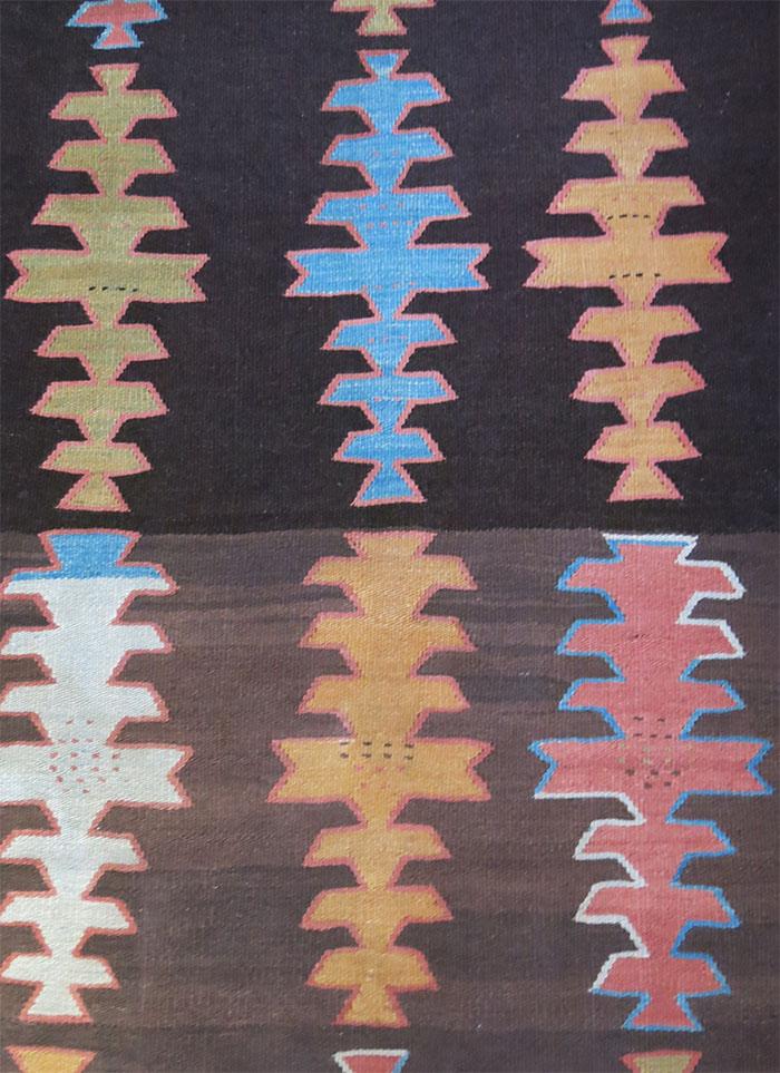 PERSIA Tehran Hallech all wool tribal kilim