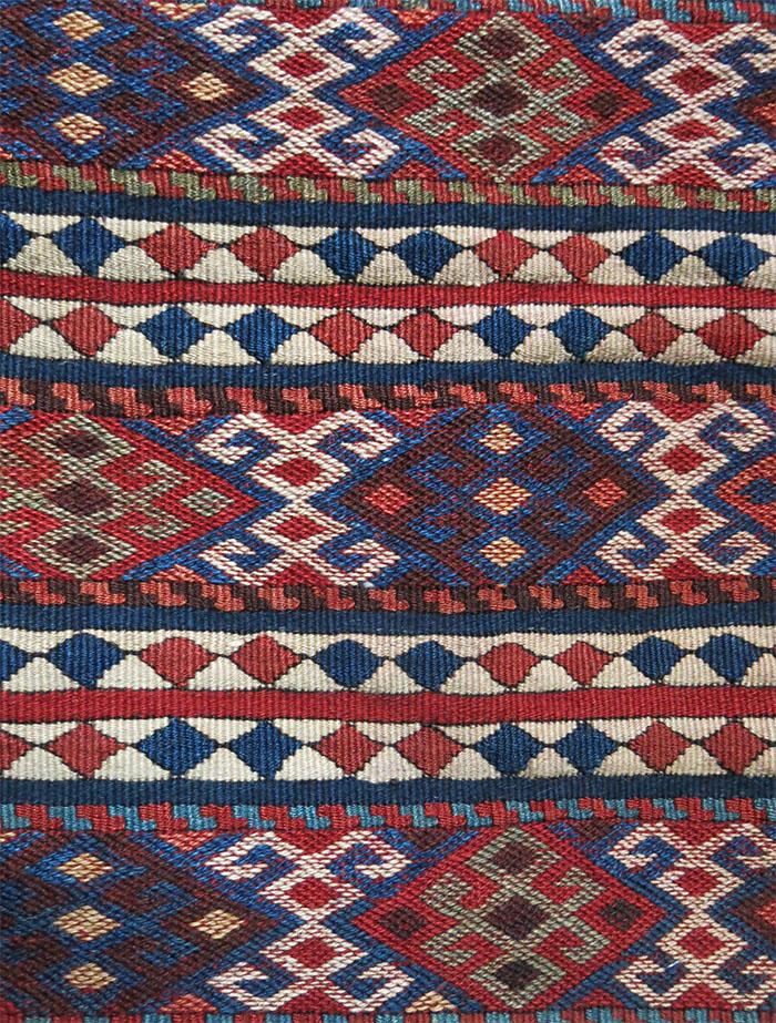 EASTERN TURKEY - KARS province - KURDISH mixed kilim woven double bag
