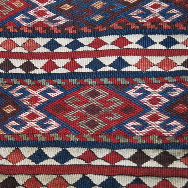 EASTERN TURKEY - KARS province - KURDISH mixed kilim woven double bag