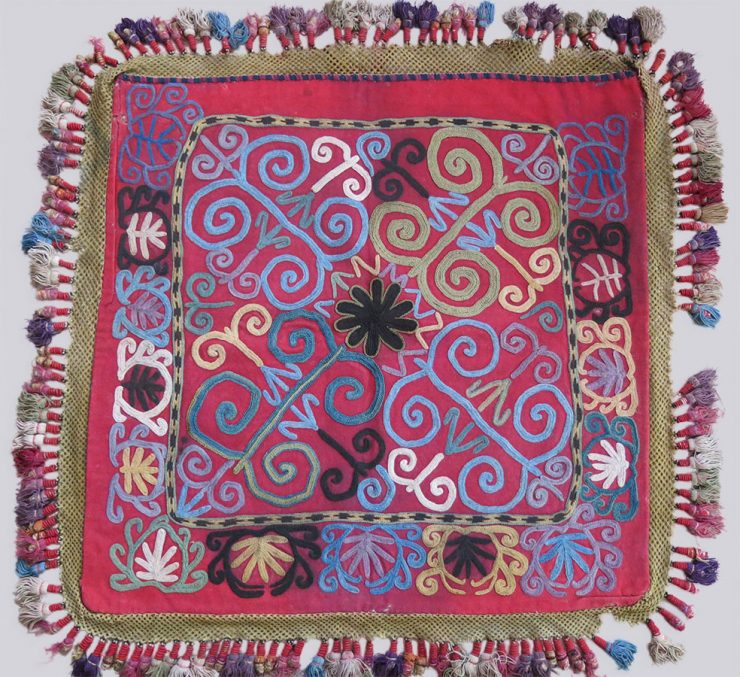 UZBEKISTAN LAKAI tribal hanging Mirror cover