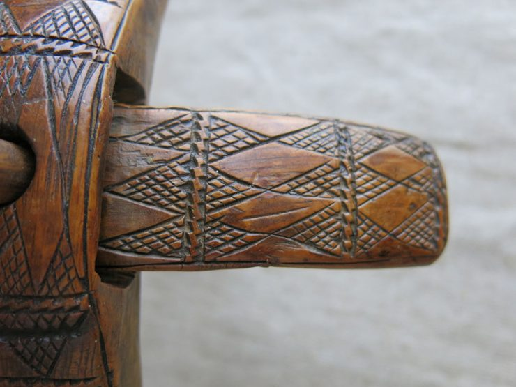 ANATOLIAN - AKSARAY hand carved antique drop spindle