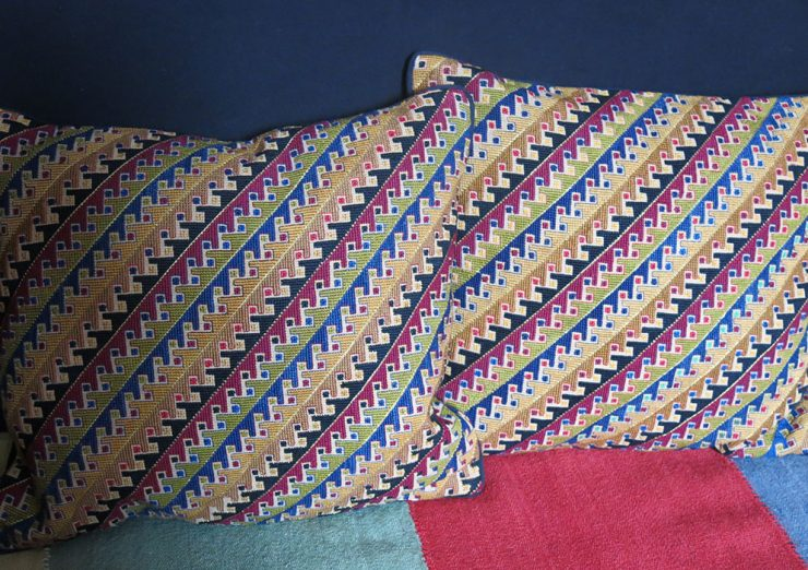 SYRIA Palestinian SILK embroidered pair of pillow covers