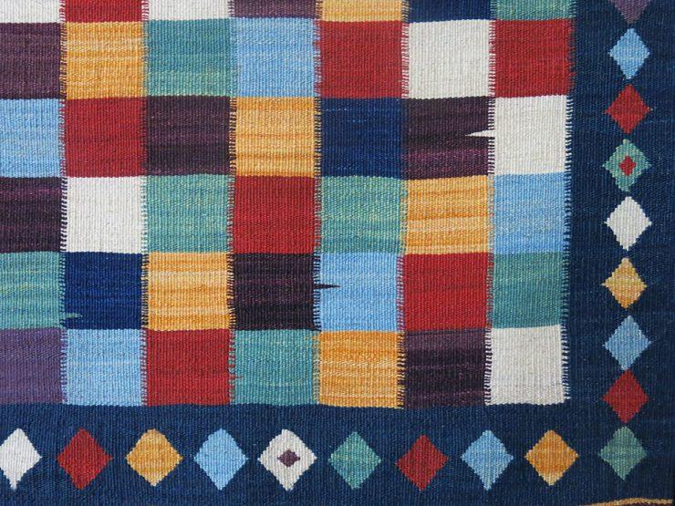 QASHKAI tribal mini checkerboard fine KILIM