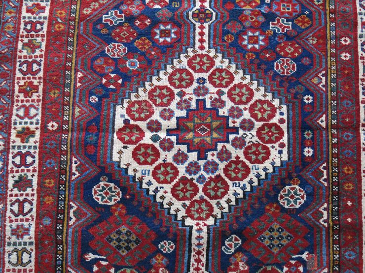 QASHKAI all wool nomadic rug with brown wool warps