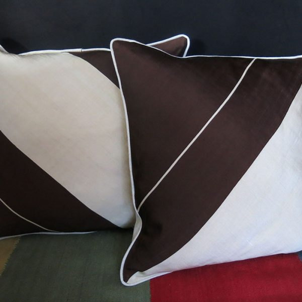 SYRIA - ALEPPO pair of fine silk Pillow covers