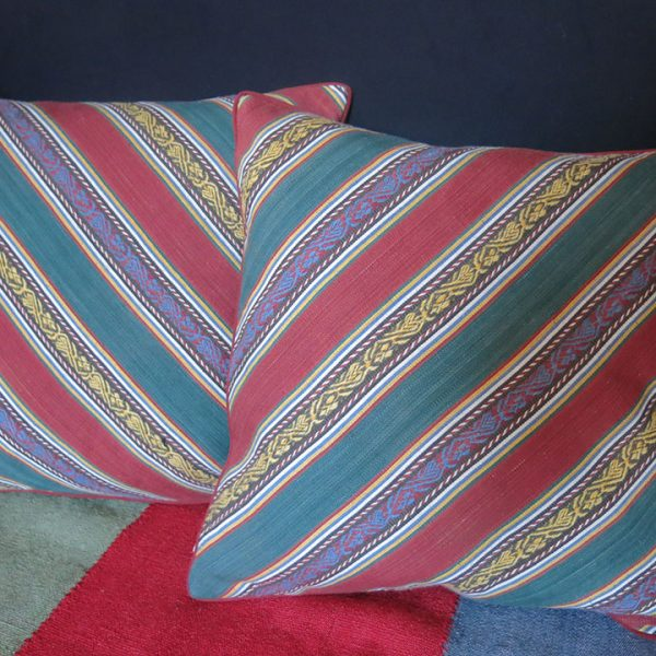 AZERBAIJAN Fine cotton JAJIM pair of pillow covers