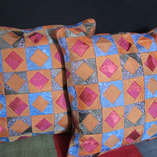 UZBEKISTAN BOKHARA silk RUSSIAN Brocade pair of pillow covers