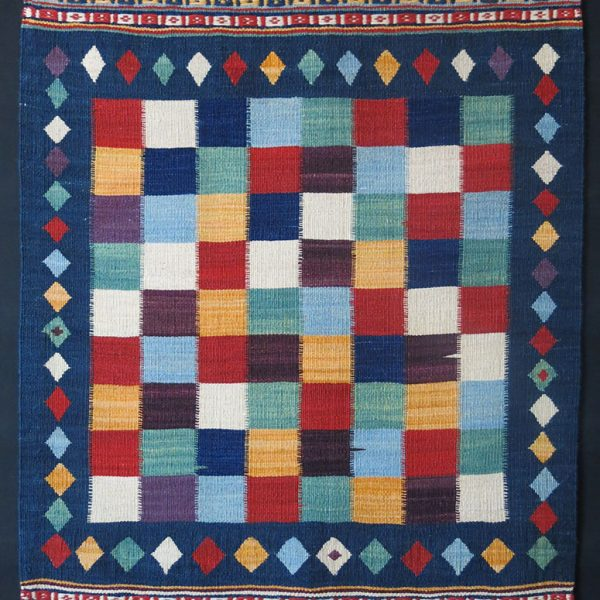 QASHKAI tribal mini checkerboard fine KILIM