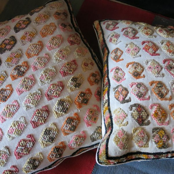 AZERBAIJAN TALYSHISTAN wool pile on cotton pair of pillow covers