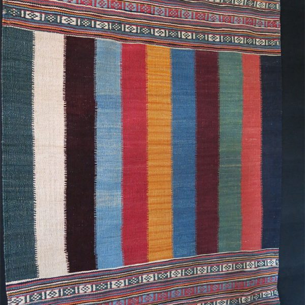QASHKAI tribal mini stripe all wool KILIM