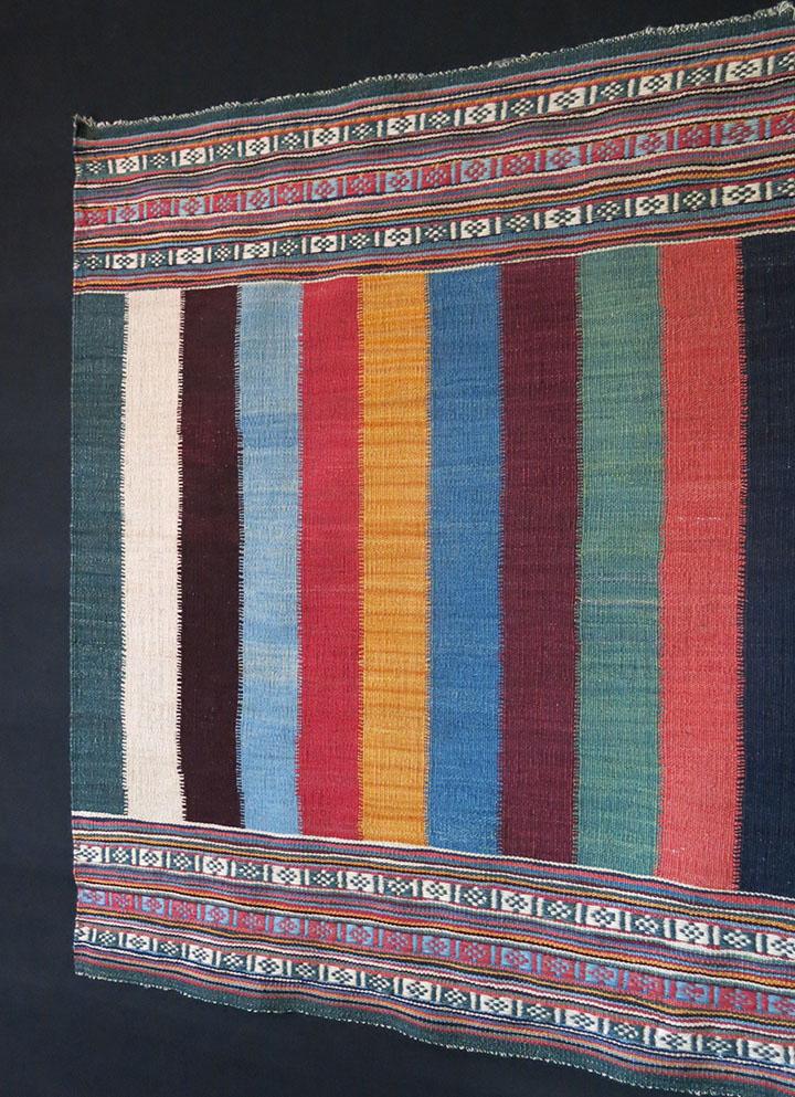 QASHKAI tribal mini stripe all wool KILIM