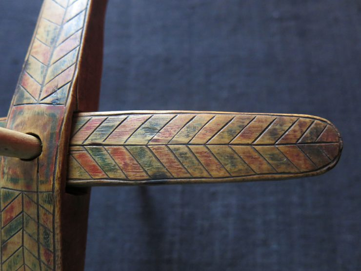 ASIA MINOR – Western Anatolia, tribal Hand carved Turkmen drop spindle
