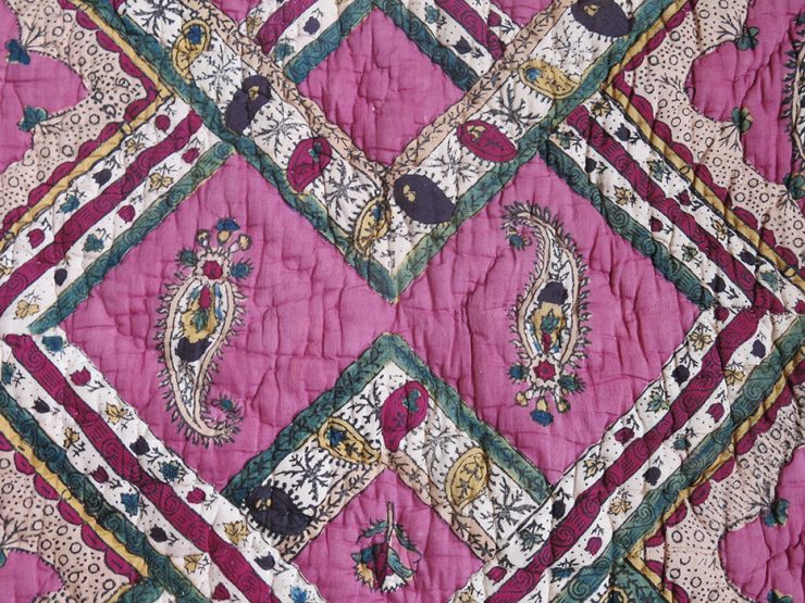 EAST ANATOLIA – TURKEY TOKAT hand block printed, painted and quilted blanket