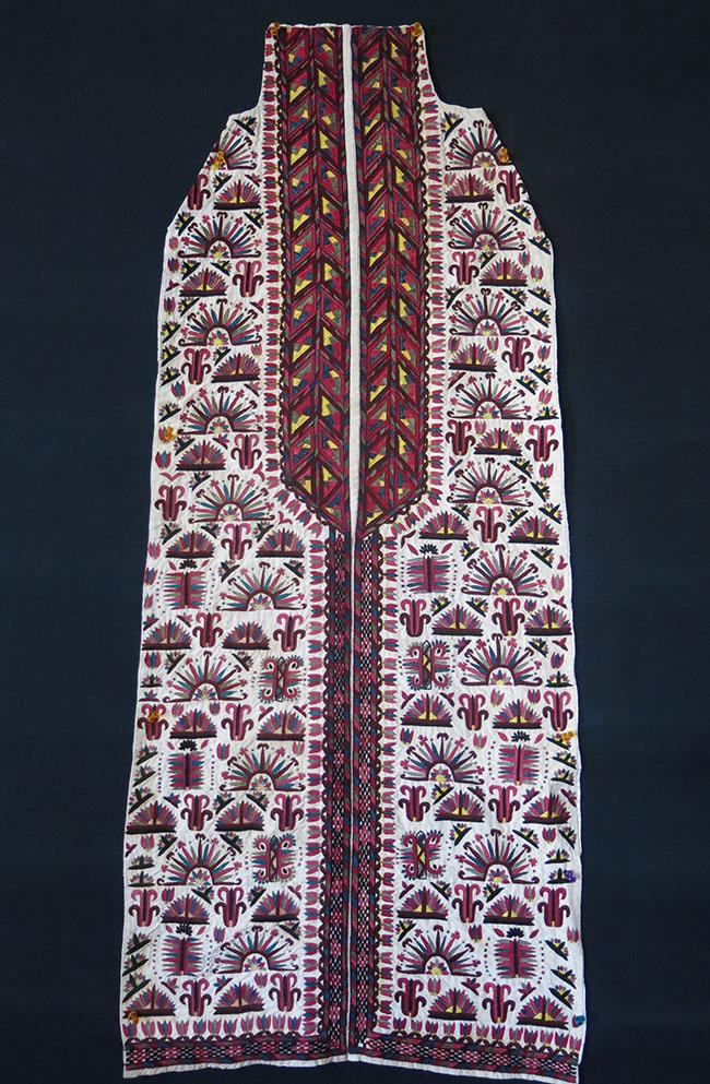 TURKMENISTAN TEKKE white women's Chirpy / cape front fragment