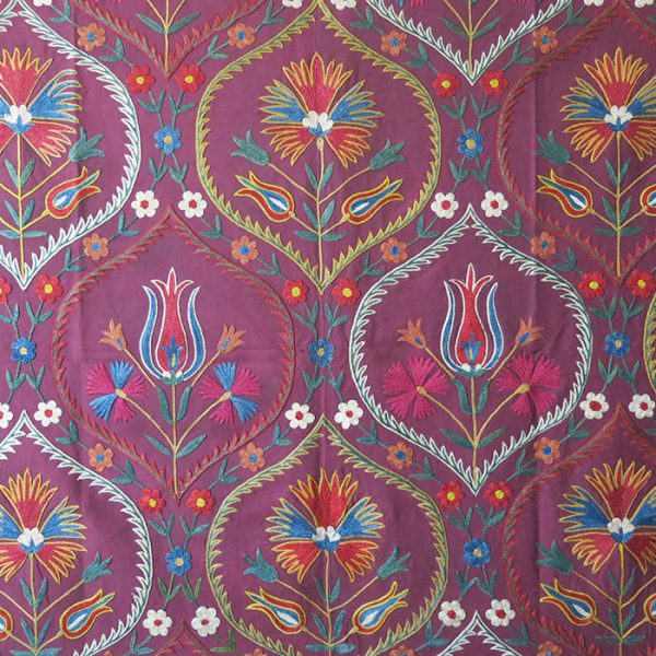 UZBEKISTAN FARGAN VALLEY hand embroidered silk Suzani