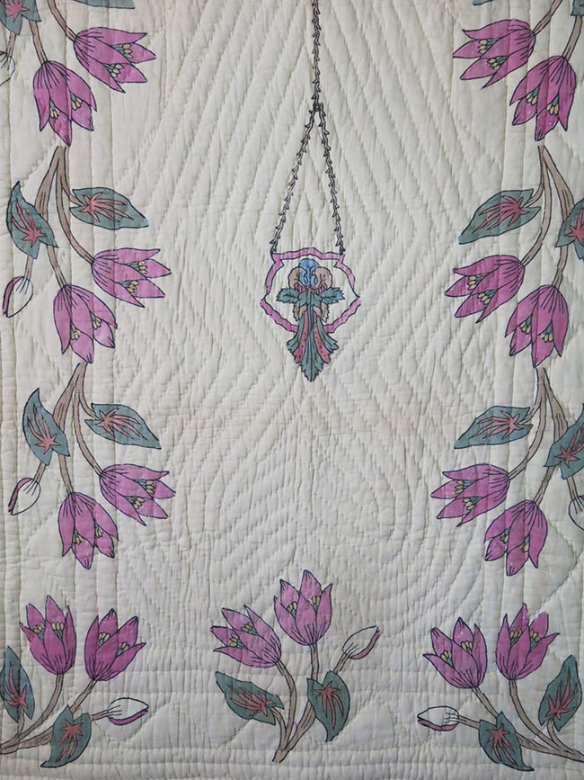 CENTRAL EAST ANATOLIA – TURKEY TOKAT province - hand block printed and quilted Prayer mat