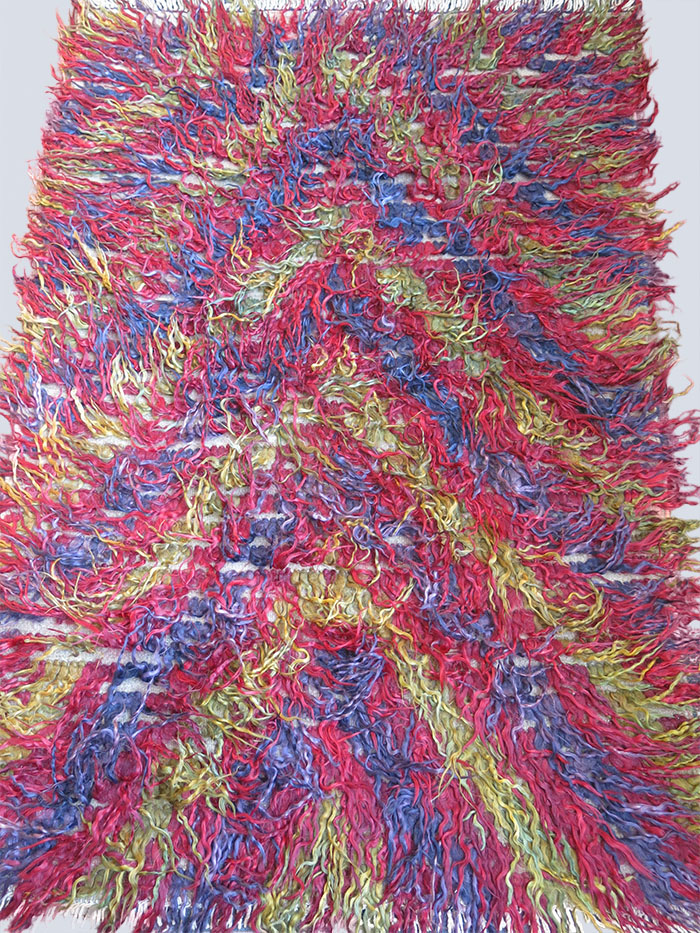 TURKEY ANATOLIAN – KONYA Karapinar tribal long pile wool Tulu – shaggy rug