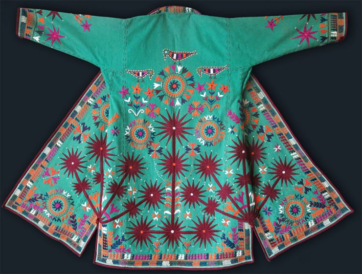 AFGHANISTAN - TURKMEN ARABACHI embroidered CHAPAN / COAT