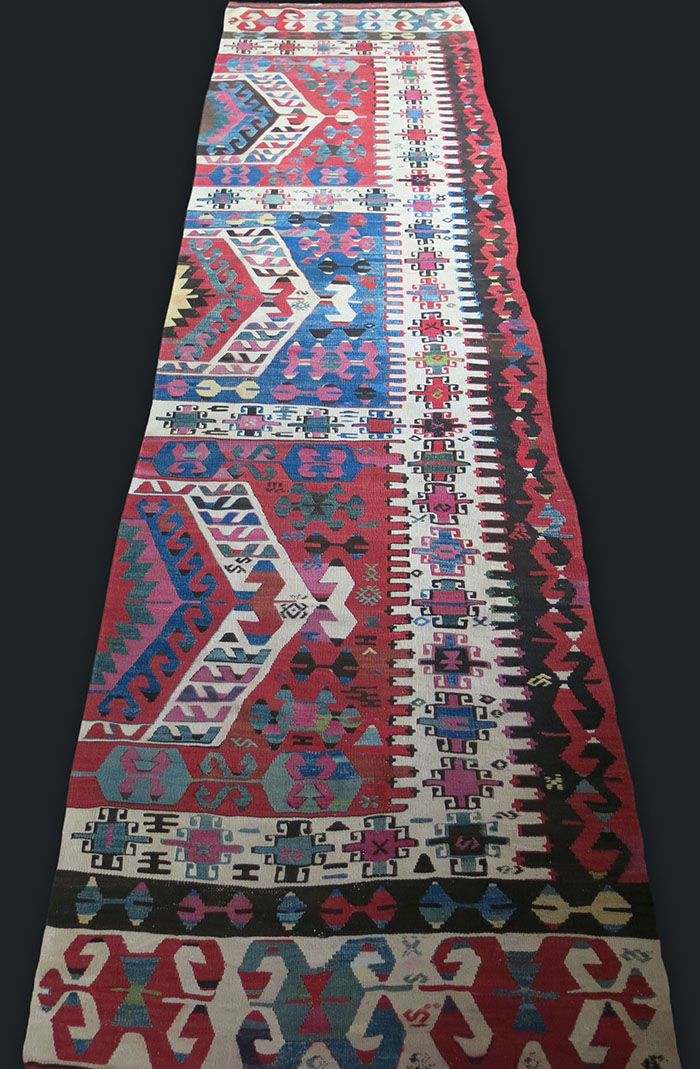WESTERN ANATOLIA / ASIA MINOR Aydinli Turkmen Half panel kilim