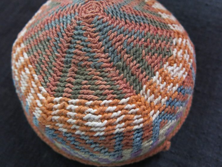 NORTH SYRIA – KURDISH hand knitted tribal cotton hat
