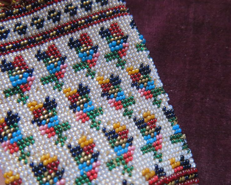 PERSIA QAJAR DYNASTY – Very finely beaded small Pouch