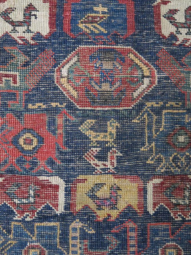 CAUCASUS – AZERBAIJAN DRAGON SHIRVAN Small Yastik / Mat