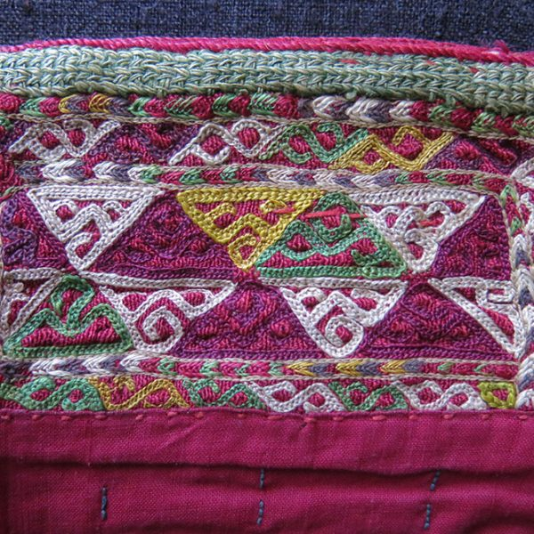 TURKMEN CHODOR small silk embroidered bag
