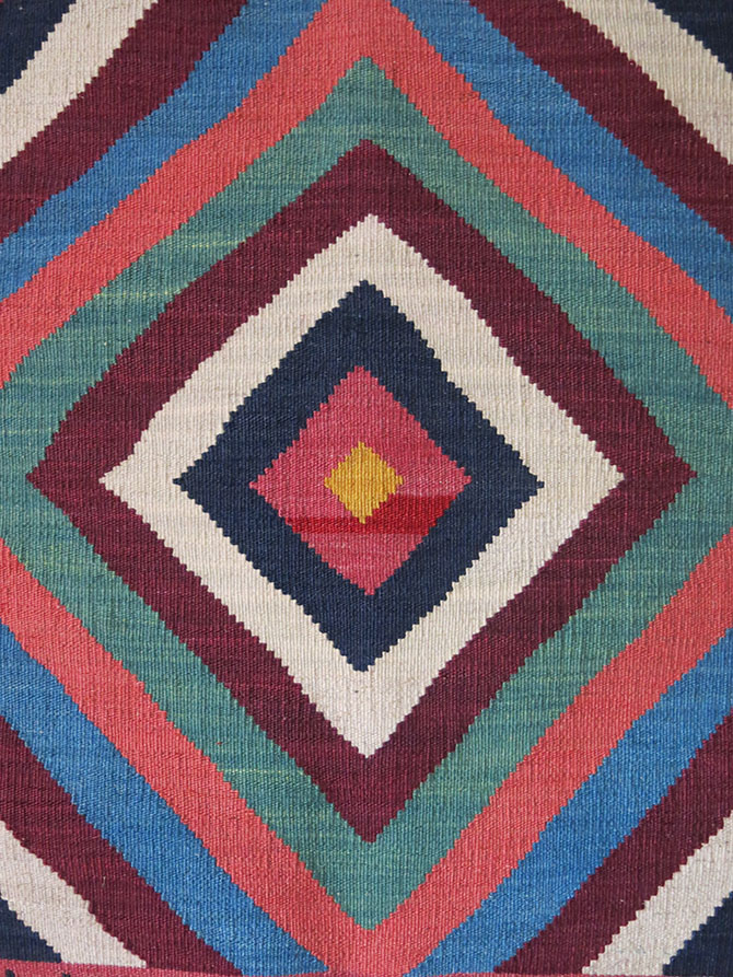 QASHKAI Tribal mini Chai sofreh style all wool Vintage KILIM