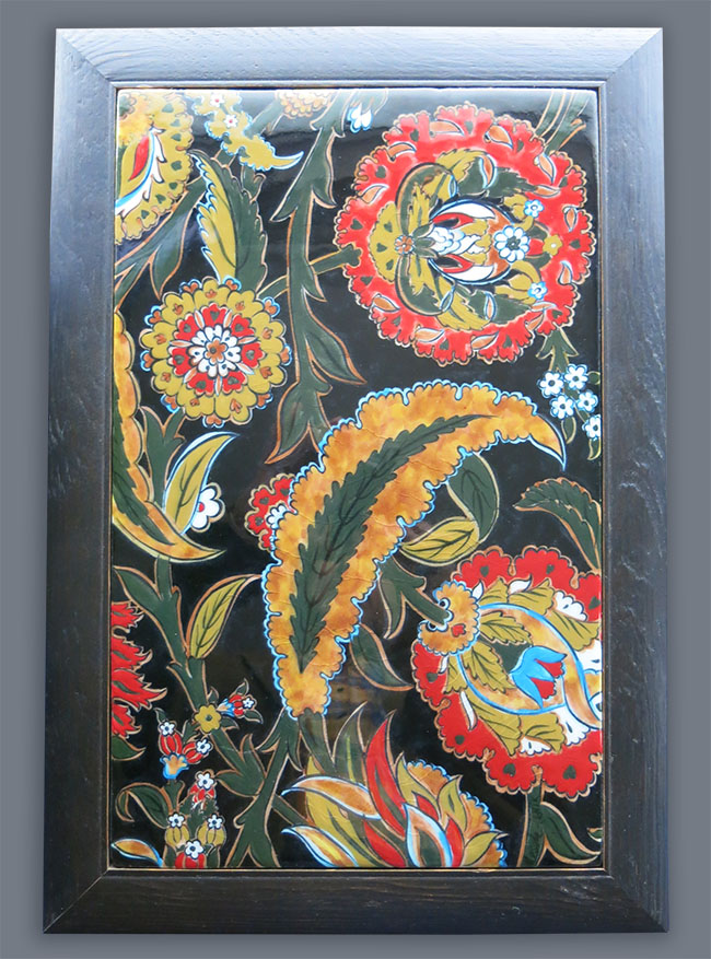ANATOLIAN IZNIK Ottoman classical design quartz ceramic panel
