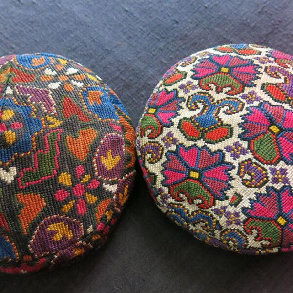 UZBEKISTAN SHEHRISABZ – BOKHARA LAKAI Silk embroidery pair of hats