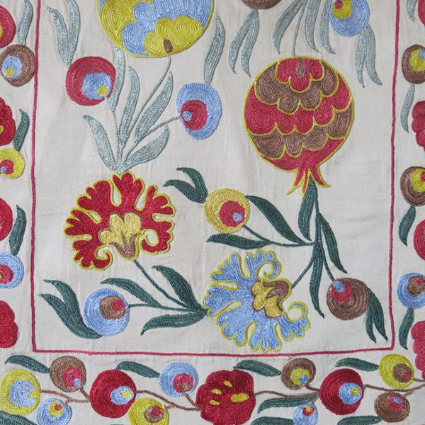 UZBEKISTAN - SUZANI silk Wall hanging and Pillow cover