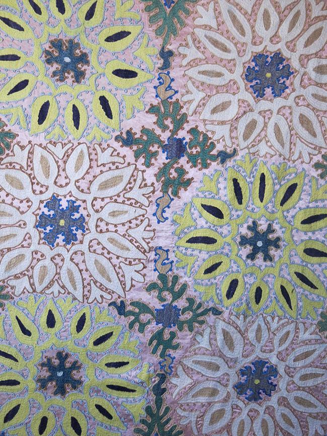UZBEKISTAN SAMARKAND KASAN Silk embroidery Suzani