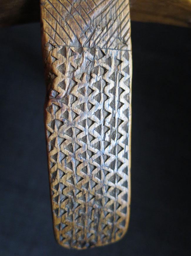 TURKEY KONYA / KARAPINAR Turkmen antique wooden hand carved drop spindle