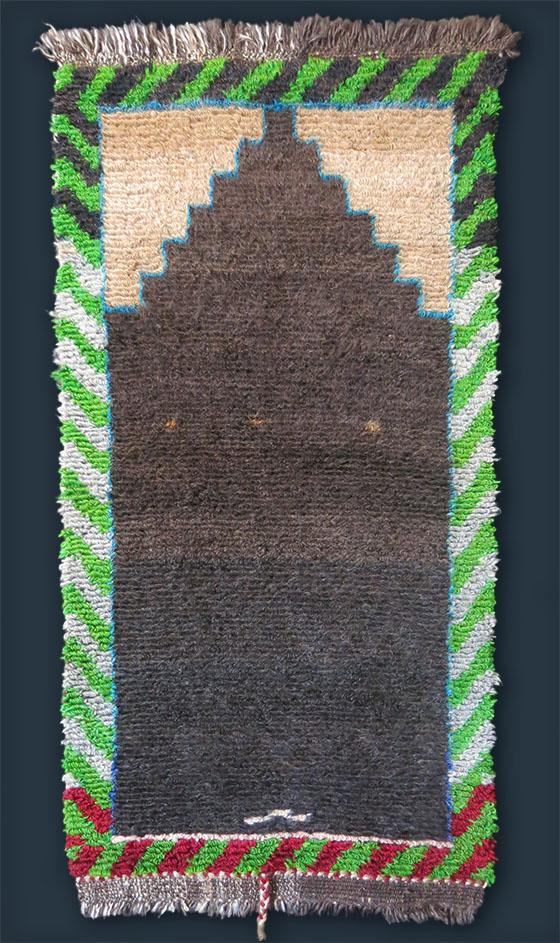 ANATOLIA – KONYA Karapinar – small Angora wool prayer rug
