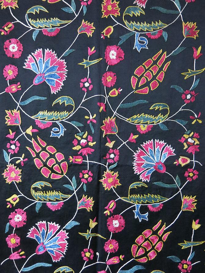 UZBEKISTAN FARGAN VALLEY handmade silk Suzani