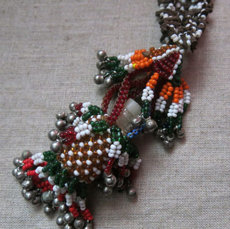AFGHANISTAN - PASHTUN - KOOCHI beaded make up container holders