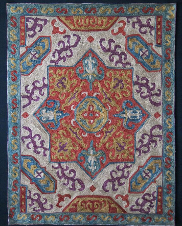 UZBEKISTAN SHEHRISABZ silk embroidery hanging panel