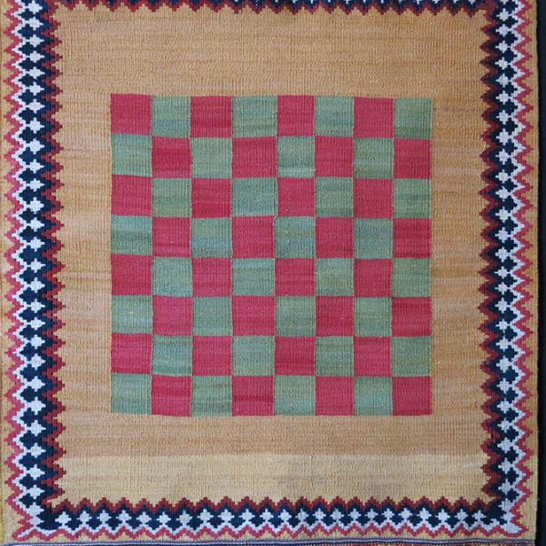 QASHKAI Tribal mini checkerboard - chessboard vintage Kilim
