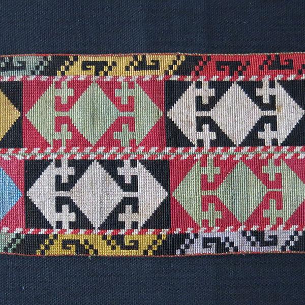 UZBEKISTAN SHAHRISABZ LAKAI silk embroidery ceremonial head band
