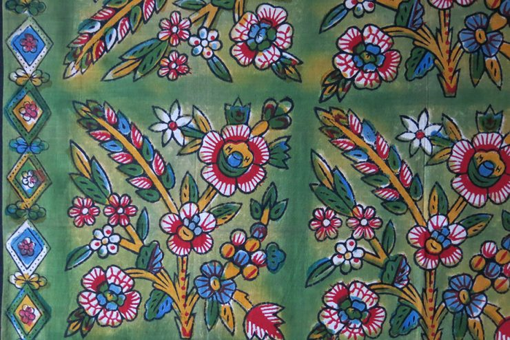 ANATOLIA – TOKAT hand printed and painted cotton SCARF