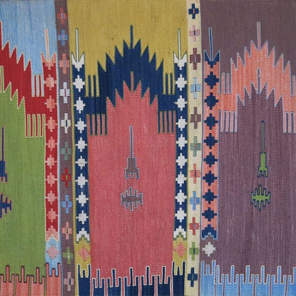 "ANATOLIAN - KONYA Silk multiple prayer design ""SAF"" Kilim"