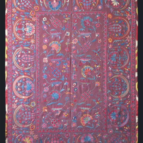 UZBEKISTAN FARGANA VALLEY - silk embroidery suzani