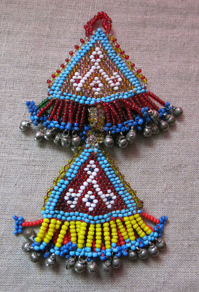 AFGHANISTAN – PASHTUN – KOOCHI beaded talisman hangings