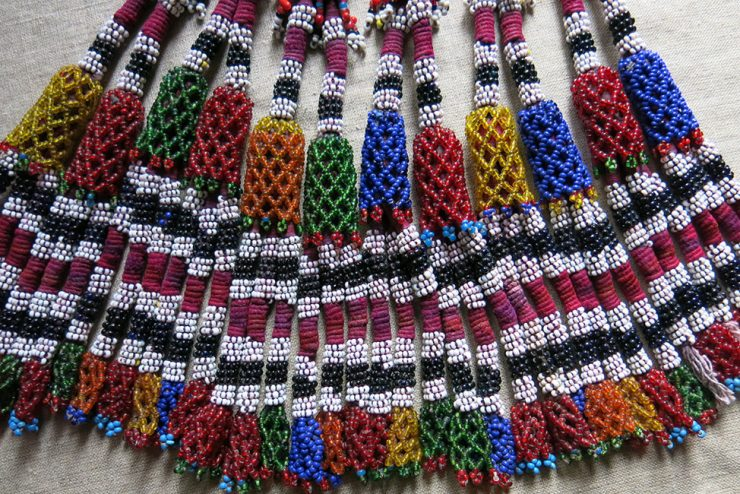 AFGHANISTAN – PASHTUN tribal group of beaded tassels
