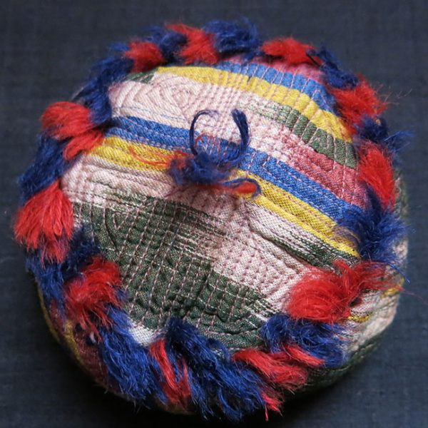 AFGHANISTAN TURKMEN Child IKAT Hat
