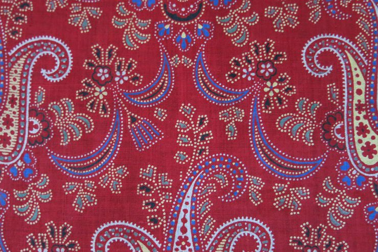 RUSSIAN ROLLER Printed antique cotton cloth fragment