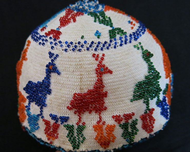 SYRIA – Druze glass beaded ethnic hat